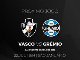 Jogo Vasco e Grêmio. Twitter @VascodaGama