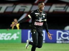 Johan Arango marcó 12 goles en 37 partidos con el Once Caldas este año. Twitter