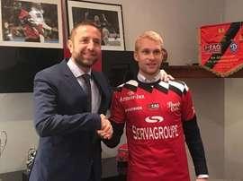 Johan Larsson, nuevo jugador del Guingamp. Twitter/Guingamp
