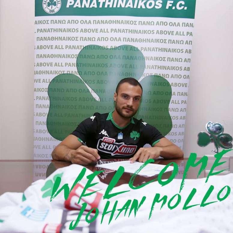 Mollo llega al Panathinaikos. Twitter/PAOFC