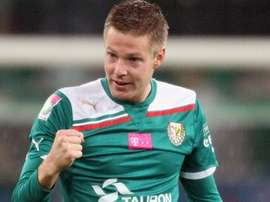 Johan Voskamp, durante un partido con el Slask Wroclaw polaco en la Liga Polaca. UEFA