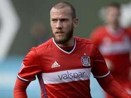 John Goosens, centrocampista holandés, ha firmado dos años con el Chicago Fire de la MLS. Twitter