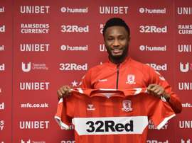 Obi Mikel rejoint Middlesbrough. Twiter/Boro