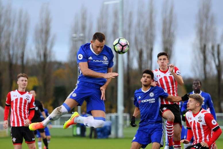 El capitán del Chelsea bajó al filial para jugar ante el Southampton Sub 21. ChelseaFC