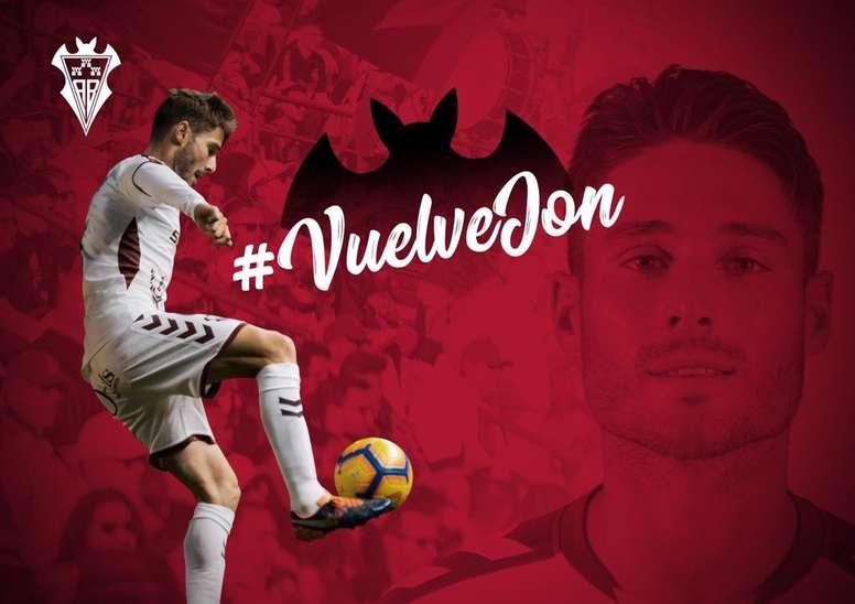 El Albacete vuelve a contar con Jon Erice. Albacete