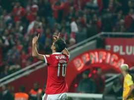 O avançado de 33 anos continua a ser um dos melhores jogadores a atuar em Portugal. Twitter/SLBenfic
