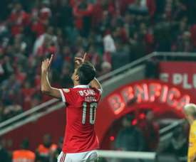 Jonas será a grande ausência do Benfica. Twitter/SLB