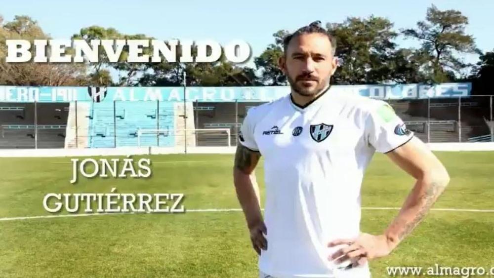 Jonás Gutiérrez jugará en Primera Nacional a sus 38 años. Captura/almagroficial