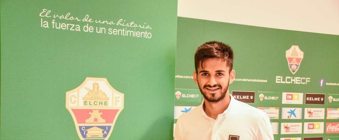 Martínez, uno de los nuevos jugadores del filial franjiverde. ElcheCF