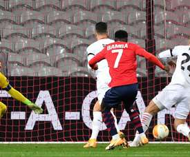 Jonathan Bamba rescued a draw for Lille. EFE