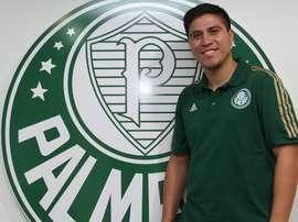 Jonathan Cristaldo ha tenido un nulo protagonismo en el conjunto brasileño. Palmeiras