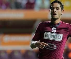 Jonathan Moya, en un partido disputado con el Deportivo Saprissa. Twitter