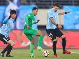 Jonathan Viera fue vital en el triunfo ante el Chongqing Lifan. Twitter/JonathanViera