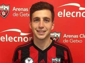 El jugador procede de las filas del Guijuelo, con el que jugó durante dos temporadas. ArenasClubGetx