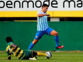 Jony, uno de los goleadores en Sittard. MálagaCF
