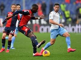La Lazio recolle à la Juve en battant le Genoa. Twitter/GenoaCFC