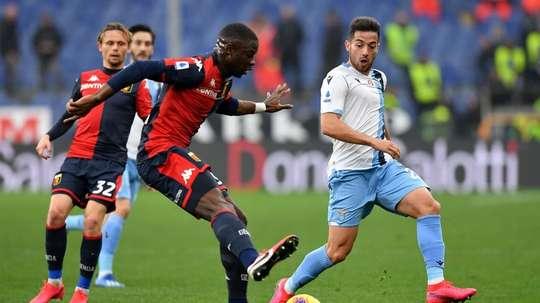 Immobile marca, Lazio vence e cola na Juventus. Twitter/GenoaCFC