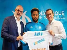O lateral de 23 anos está de regresso ao sul de França, depois de se ter formado no Nice. Twitter/MF