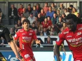 Jordan Lukaku, joueur Belge du KV Oostende. KV Oostende