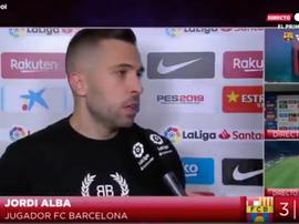 Jordi Alba. Captura/GOL