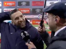 Alba usou do sentido de humor nas respostas ao jornalista. Captura/beINSports