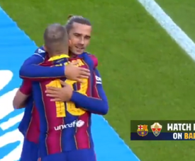 Barca took the lead in no time. Captura/BarçaTV