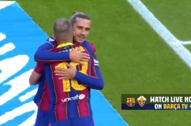 Barca took the lead in no time. Captura/BarçaTV