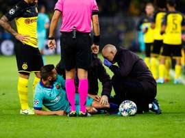 Alba suffered a thigh injury against Dortmund. FCBarcelona