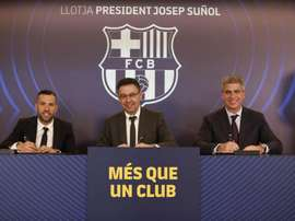 Jordi Alba s'est exprimé devant la presse. FCBarcelona