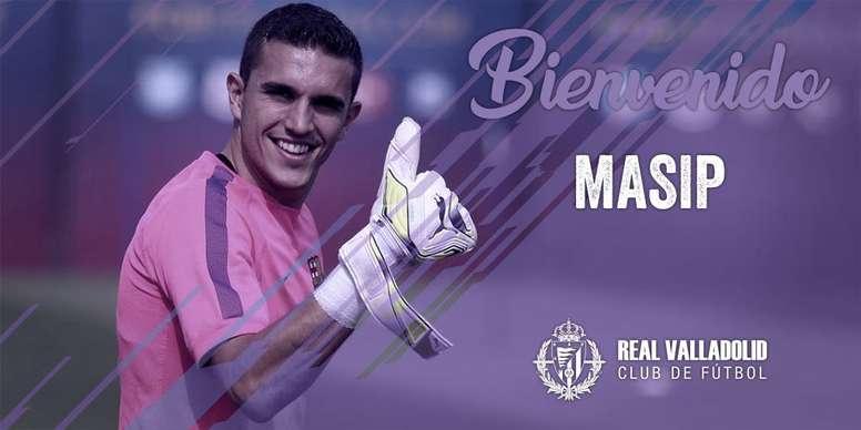 Valladolid appoint Jordi Masip as their new goalkeeper. RealValladolid