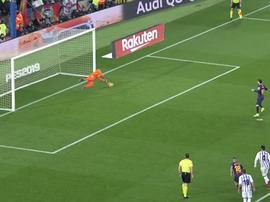 Masip a frustré la soirée de Messi. twitter/elchiringuitotv
