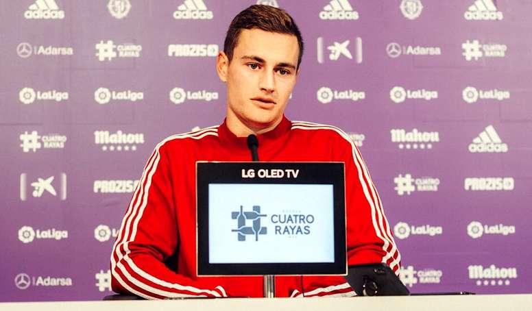 De Frutos debutó ante el Athletic. RealValladolid