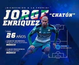 Jorge Enríquez, nuevo jugador de Puebla. ClubPuebla