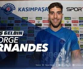Jorge Fernandes emprestado ao Kasimpasa. Twitter/Kasimpasa