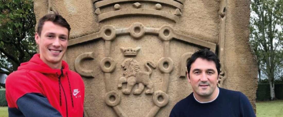 Jorge Herrando podrá seguir dando pasos como rojillo. Osasuna
