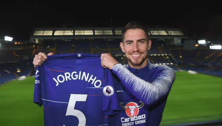 Jorginho joins up with is former Napoli boss Sarri. ChelseaFC