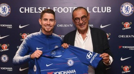 Jorginho is reunited with Sarri at Chelsea. ChelseaFC