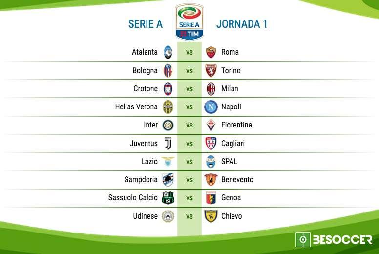 Calendario Serie A 17 18.Asi Queda El Calendario De La Serie A Para La 17 18 Besoccer
