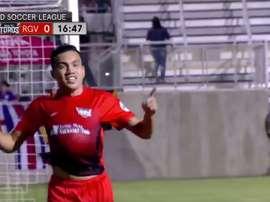 Escalante anotó el único gol del partido. Twitter