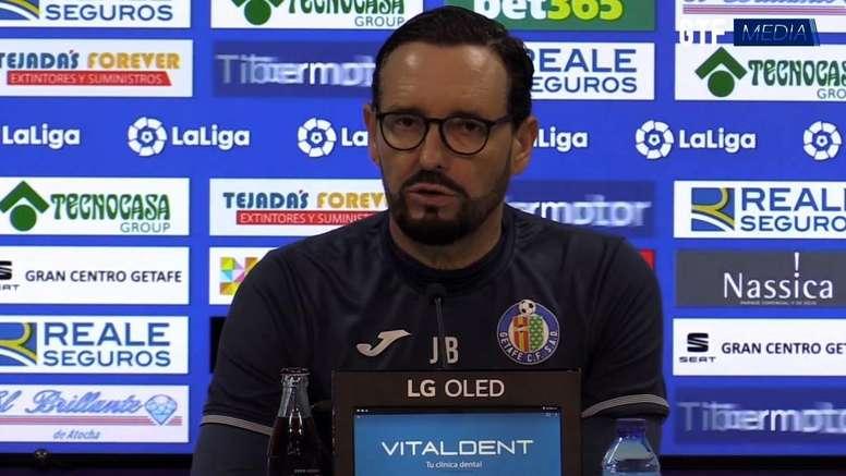 Bordalás analizó el Getafe-Athletic. Captura/GetafeCF