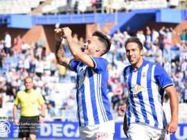 Lazo a réalisé une bonne saison avec le club blanc et bleu. RecreativoHuelva