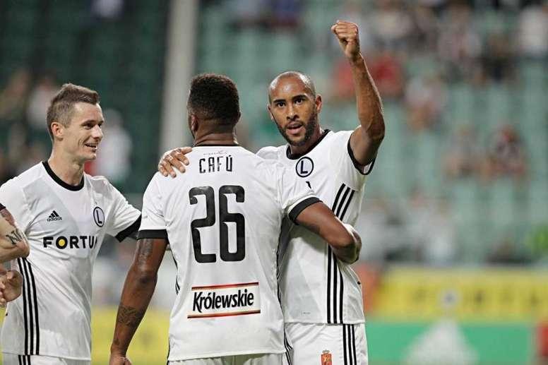 José Kanté llegó hace menos de un mes y ya suma dos goles. LegiaWarszawa