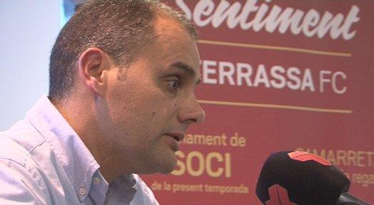 Jose Luis Duque podría dejar de ser entrenador del Terrassa en las próximas horas. Twitter