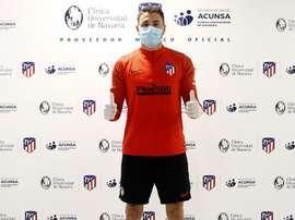 Cinco jogadores do Atlético passaram por exame médico. AtléticodeMadrid