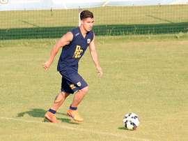 José Mauri, durante un entreno con el Parma. Twitter.