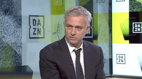 Mourinho n'a pu s'empêcher de parler du 'Clasico'. Capture/DAZN