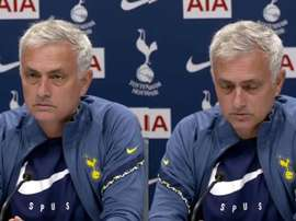 Mourinho in a press conference. Screenshot/TottenhamHotspur