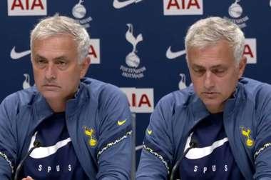 Mourinho in a press conference. Screenshot/TottenhamHotspur