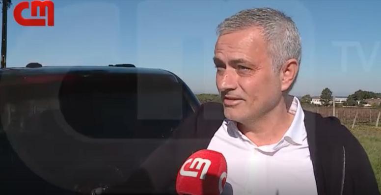Mourinho s'est de nouveau exprimé publiquement. Capture/CorreiodaManha