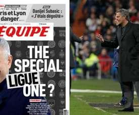 Mourinho pode pintar na Ligue 1. L'Equipe/EFE